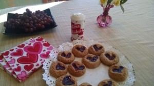 Yummy Valentine's cookies with Love