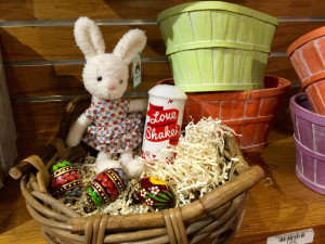Itty-bitty bunny with love and eggs in a basket 1 resized